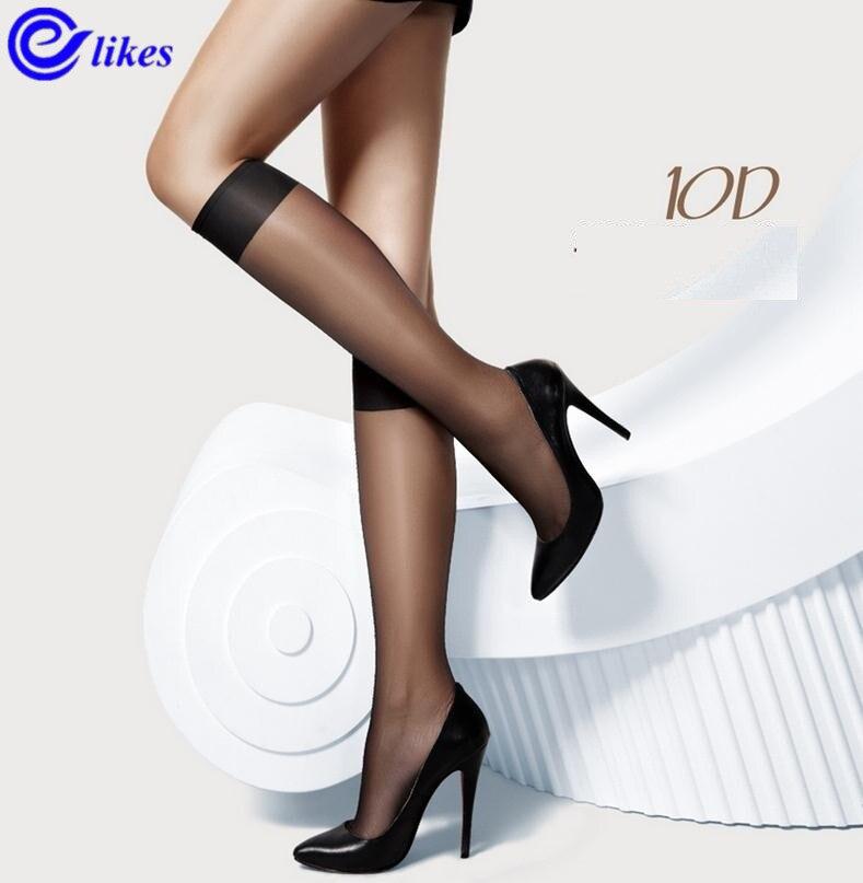 10 pares das mulheres da forma joelho highs meias confortáveis legal náilon meia sox mulher senhoras meia