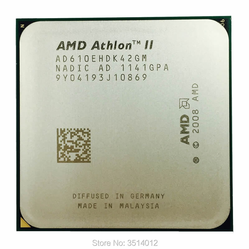 AMD Athlon II X4 610E 610 2,4 GHz Quad-Core CPU procesador AD610EHDK42GM hembra AM3