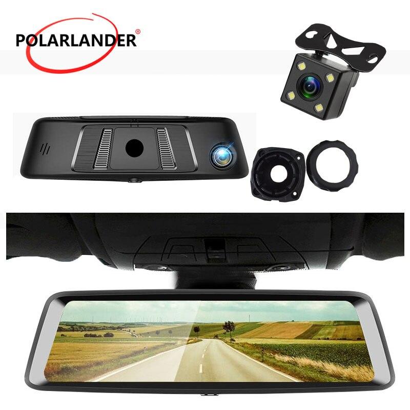 """A9 10 """"DVR MP4/MP5/RMVB 4G Android con Bluetooth pantalla táctil GPS ADAS G-SENSOR WiFi espejo retrovisor cámara Video grabadora"""