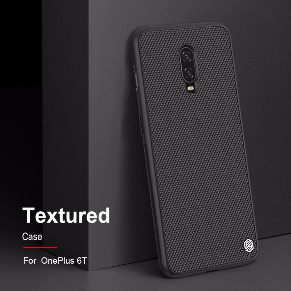 Funda para Oneplus 6T Original NILLKIN, funda de teléfono con textura de fibra de nailon para One plus 6 T, carcasa de teléfono, funda de lámina de hierro integrada