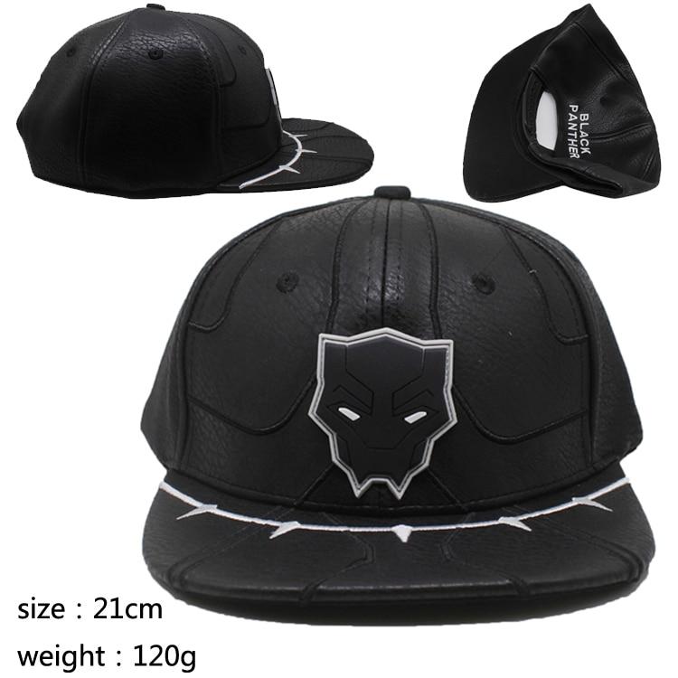 Gorra de cuero de Los Vengadores Infinity War, Pantera Negra, gorra de béisbol de moda para verano, Hip Hop