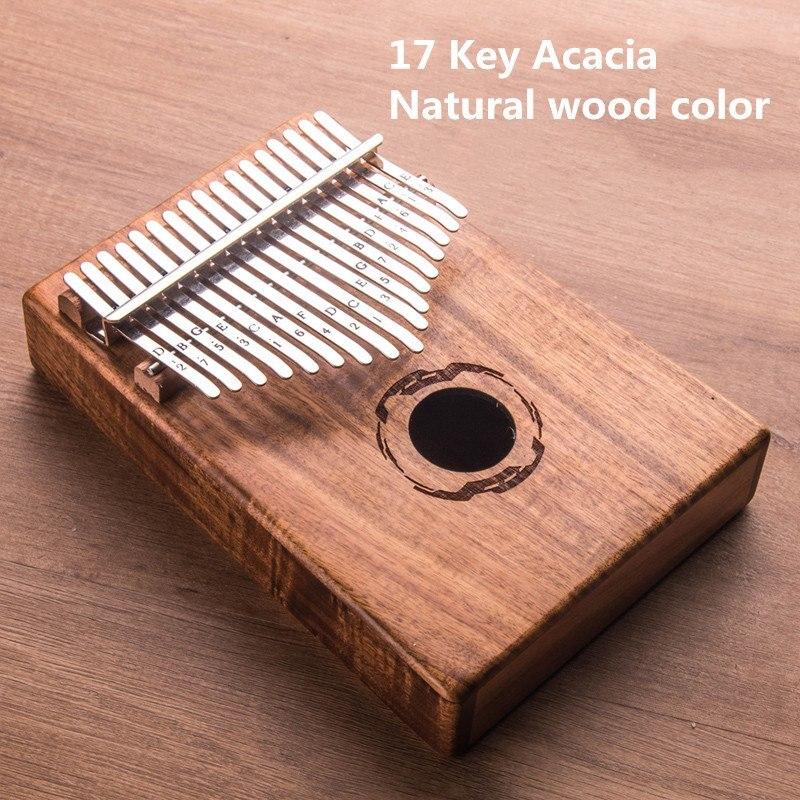 17 Key Kalimba with Hand Bag African solid Mahogany Thumb Finger Piano Sanza 17 keys Solid Wood Kalimba Mbira Thumb enlarge
