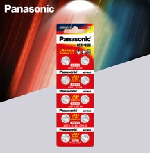Panasonic 10pc 1,5 V pila de botón lr44 baterías de litio A76 AG13 G13A LR44 LR1154 357A SR44 100% Original