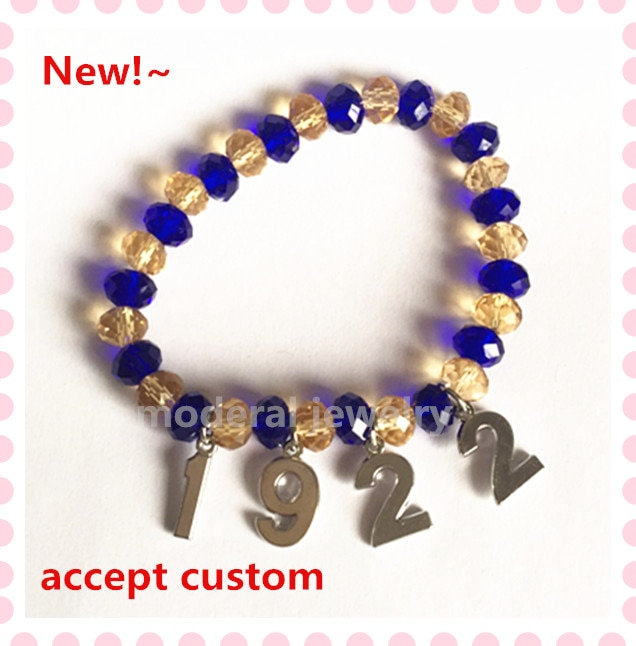 2018 USA hot elastic 6*8mm SGR 1922 bracelet sigma gamma rho jewelry sorority greek new accept custom OGL068,1pcs