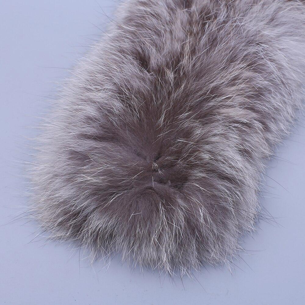 2020 Winter New Arrival Women's Men's Genuine Fox Fur Hand Knitted Long Warm Fashion Scarf Scarves Wraps Mufflers