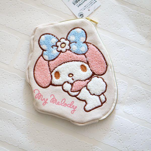 Dibujos Animados My Melody Pudding perro suave felpa auriculares bolsa de almacenamiento de monedas Bolso saco un principal para los regalos de los niños 17CM