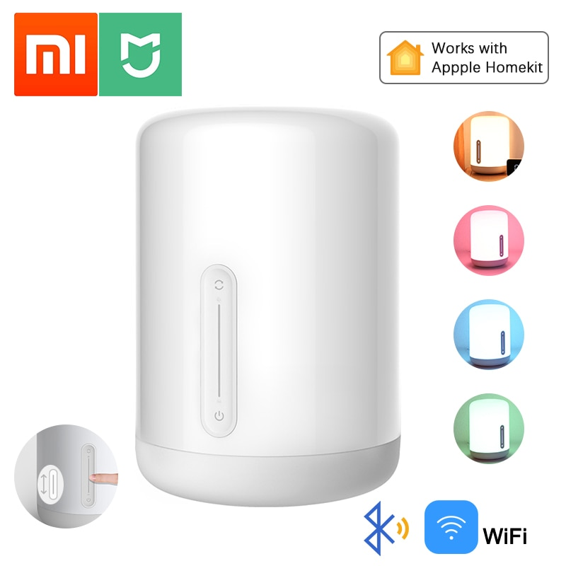 Xiaomi Mijia Lámpara 2 RGBW Color LED noche luces Bluetooth WiFi Control remoto inteligente compatible con HomeKit de Apple Siri