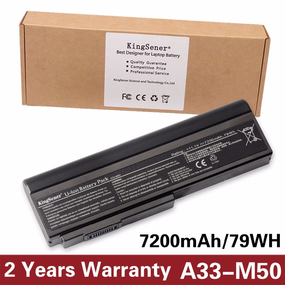 Фото - 11.1V 7200mAh KingSener A33-M50 Battery for ASUS A32-M50 A32-N61 M50 M50V M50Q M50Sa M50Sr M50Sv M51E M51Kr M51Se M51Sn M51Sr refrigerator biryusa m50
