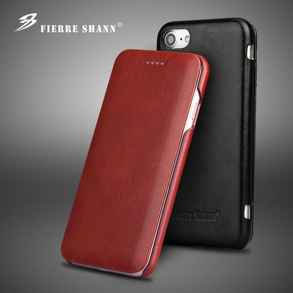 Funda con tapa de cuero auténtico 100% para iPhone 6 6S 7 8 Plus SE 2020 X XR XS 11 Pro Max Funda de cuero Real con imán integrado