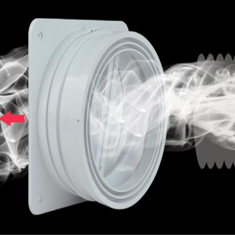 Diámetro interior 15-18cm ventilación de baño tapa de pared de cocina PVC accesorios de tubería evacuación de humo tubería