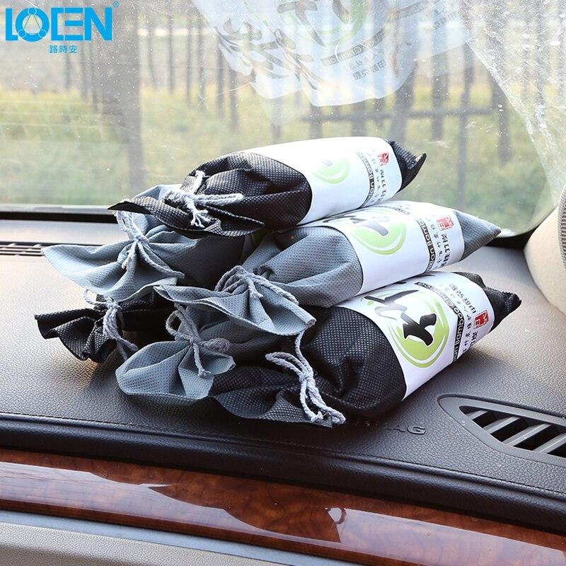 Bolsa ambientadora de carbón de bambú Natural negro para coche, bolsa de carbón activado, elimina el olor a formaldehído, accesorios para el hogar, desodorante