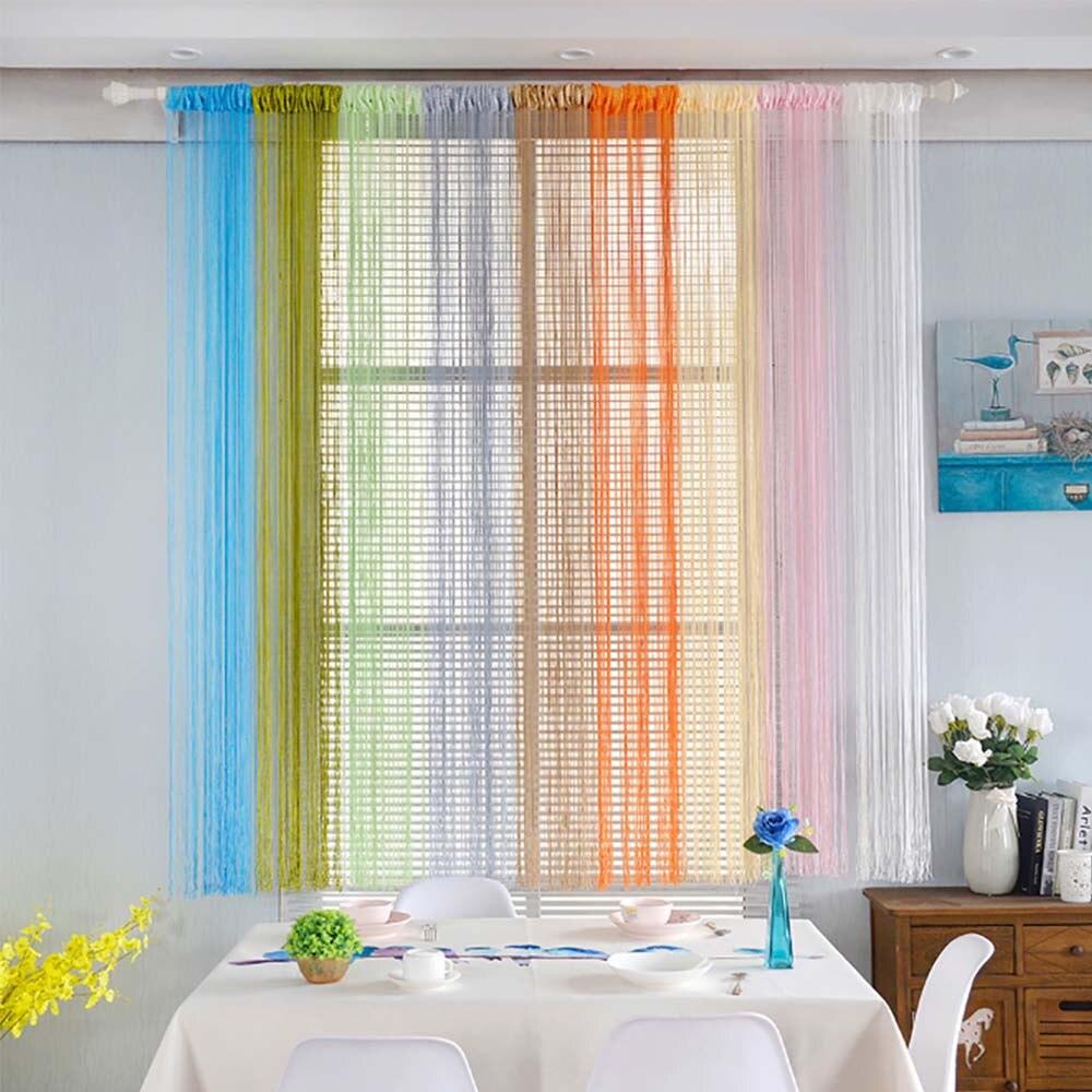 Cortinas de cuerda, red para Patio, flecos para puerta, pantalla de mosca, ventanas, divisor cortado a tamaño, cortinas para sala de estar, dormitorio, cortinas B1