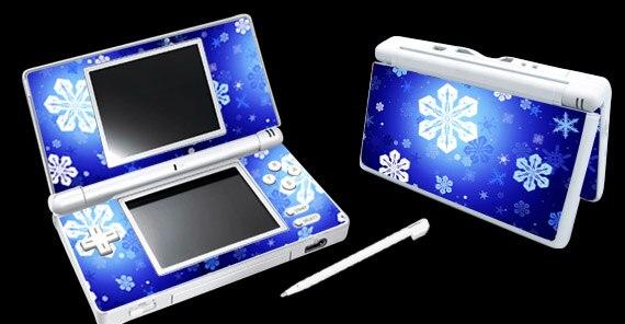 Copos de nieve 032 vinilo piel pegatina Protector para Nintendo DSL NDSL skins pegatinas