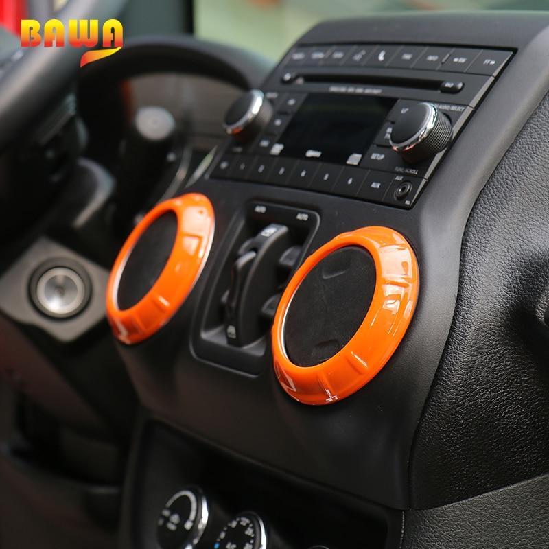 BAWA Interior Moulding for Jeep Wrangler JK 2011-2017 Steering Wheel Decoration Air Condition Vent Cover 4 Door Car Interior kit enlarge