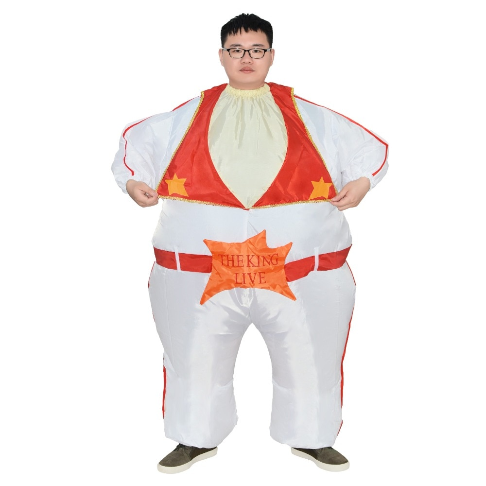 Elvis presley cantor o rei do rock and roll traje inflável para cosplay halloween palco desempenho festa de máscaras