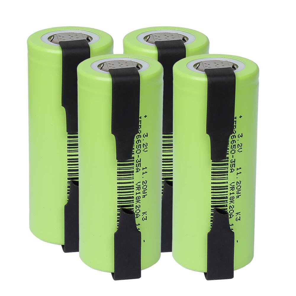 3500mAh lifepo4 26650 35A 3,2 V batería recargable 10A descarga de velocidad 11,2 WH con baterías de repuesto de hojas de níquel