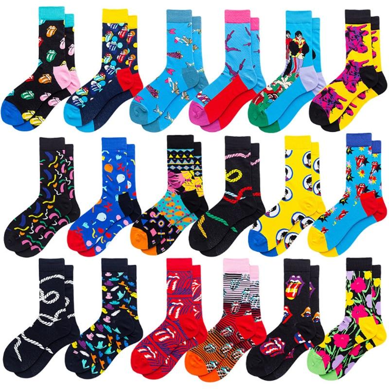 Calcetines Divertidos y creativos a la Moda de Hip Hop, calcetines Divertidos y alegres de calle para hombre, Harajuku Divertidos, Chaussette de Skateboard para hombre