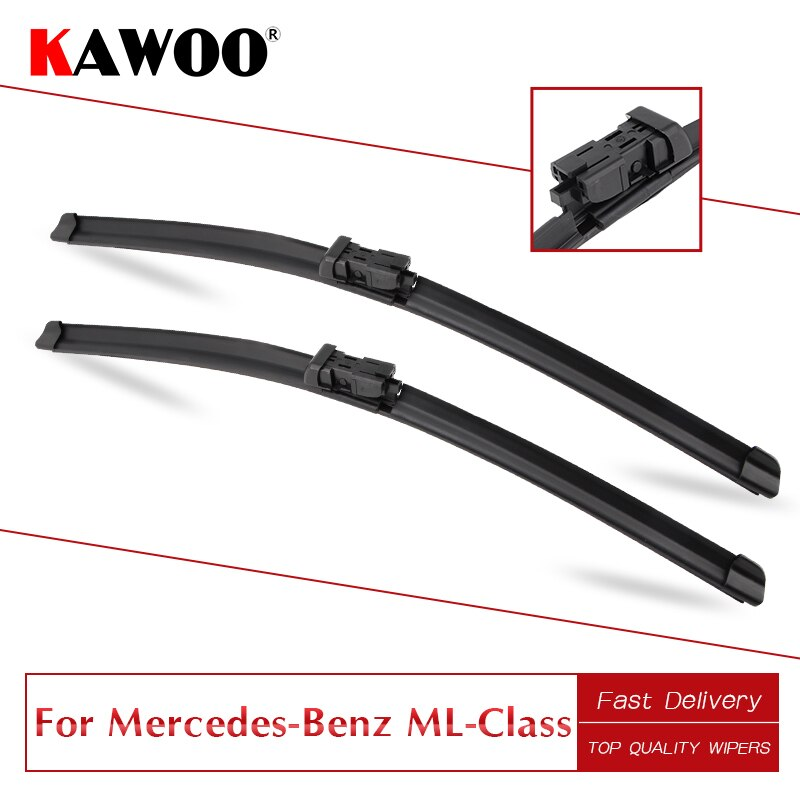 KAWOO dla Mercedes-Benz ML klasy W164/W166 gumowe wycieraczki ostrza 2005 2006 2007 2008 2009 2010 2011 2012 2013 2014 2015 2016