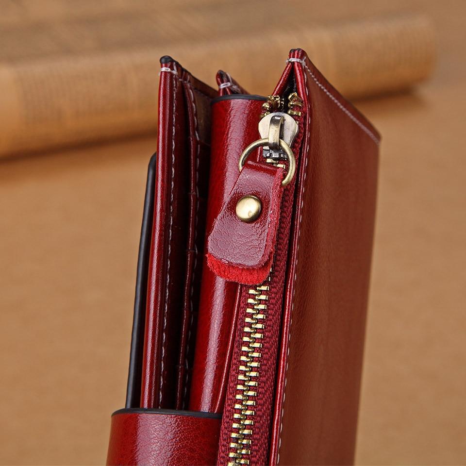 Купить с кэшбэком Dreamlizer Women Real Genuine Leather Wallet Female Long Leather Clutch Purse Lady Phone Coin Bag Purse Wallet Women's Bag