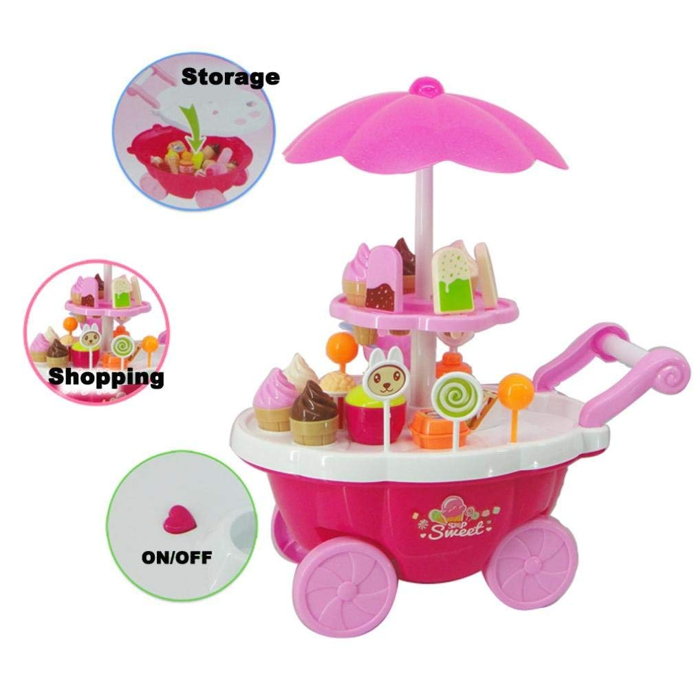 20 33 38cm simulation mini trolley girl candy car ice cream shop supermarket children play toy ice cream cart 39 Pcs Simulation Small Carts Girl Mini Candy Cart Ice Cream Shop Supermarket Children 's Home Playing Toys