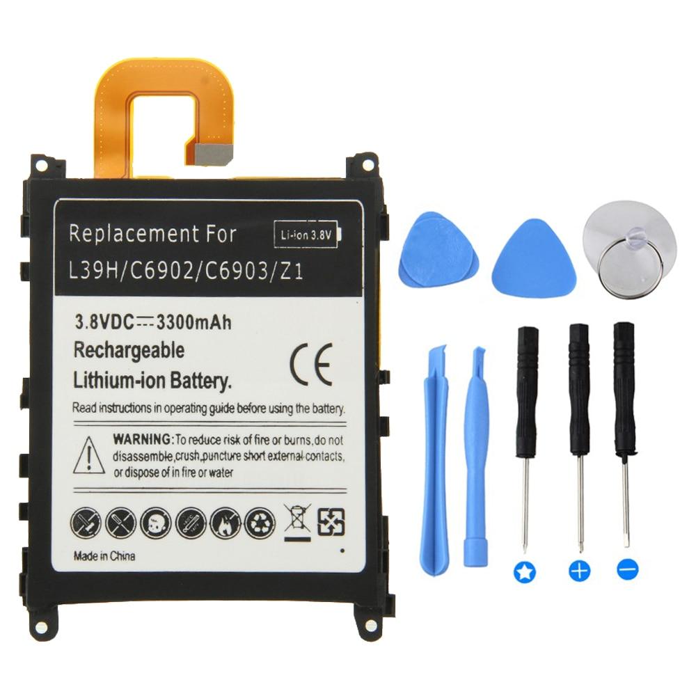 Batería de alta calidad de 3300mah para Sony Xperia Z1 L39H C6902 C6903 Z 1 Batería de teléfono móvil para Sony Z1 batería + herramienta