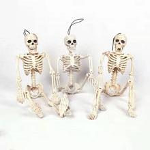 Esqueleto de modelo médico anatómico humano Flexible para anatomía, venta al por mayor, ayuda médica para Aprender anatomía, boceto de arte, Halloween de 40CM