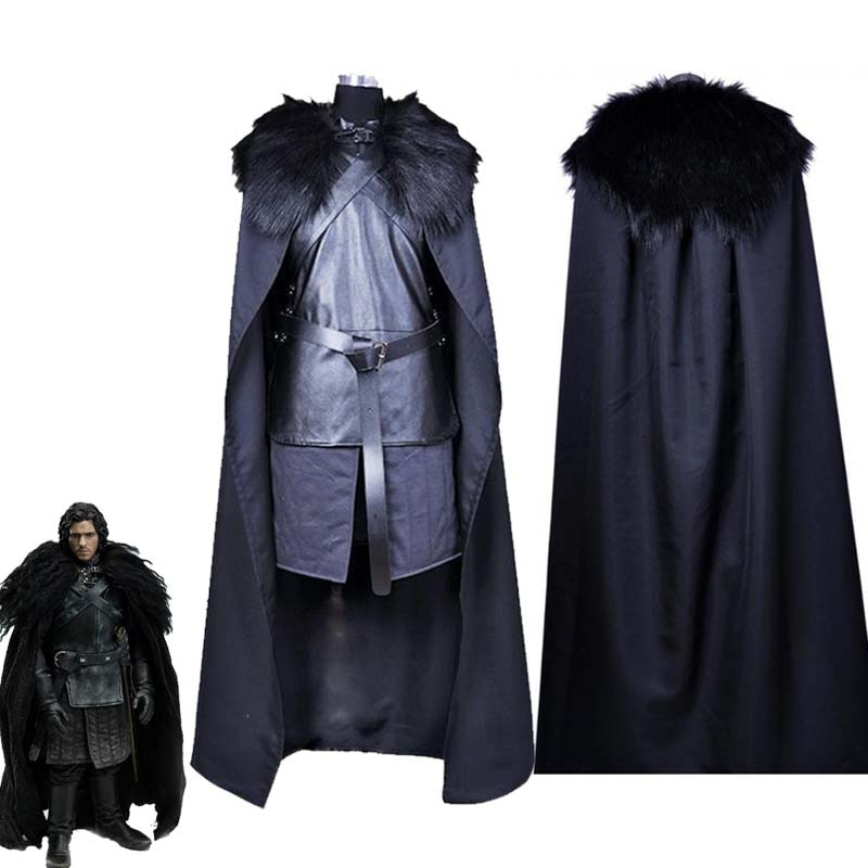 Disfraz de Game of Thrones, disfraz de Song of Ice and Fire Jon Snow, disfraz de Halloween para hombre, uniformes de Carnaval hechos a medida