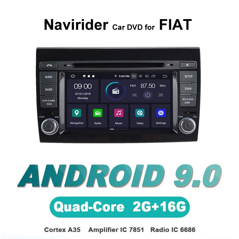 Navegador gps Navirider, reproductor de radio para coche android 9,0 para FIAT BRAVO, Multimedia, dvd, estéreo, bluetooth, accesorios para coche