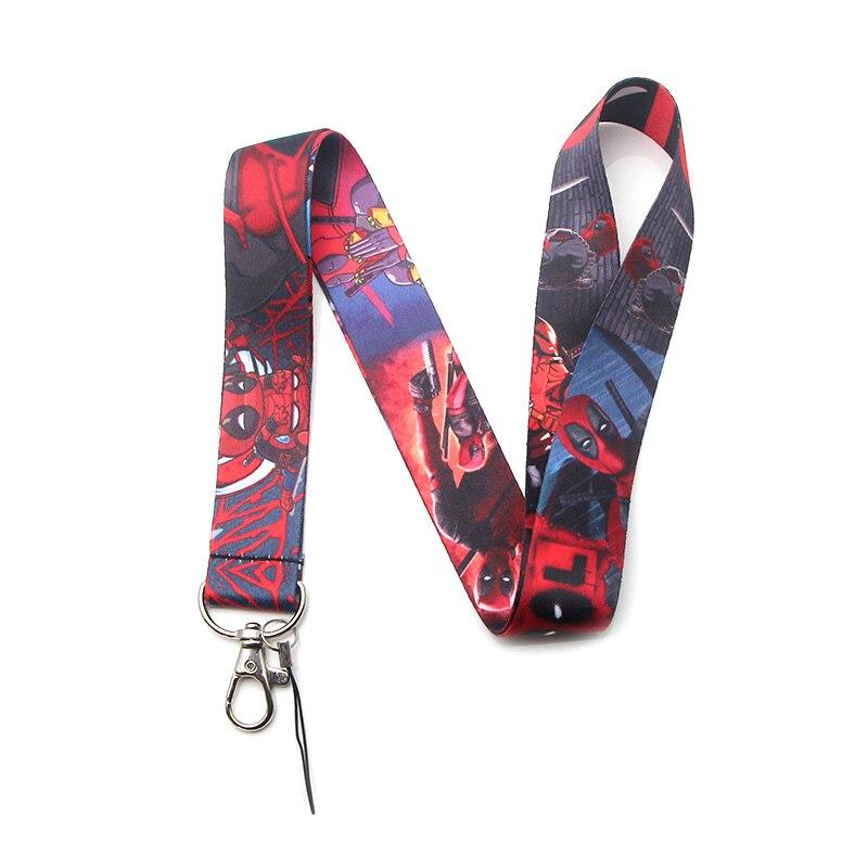 Deadpool V259 Cordão Alça de Pescoço para chaves ID Badge holder Cartão Mobile Phone Straps USB DIY Neck Strap Pendure Rope lariat Colhedores