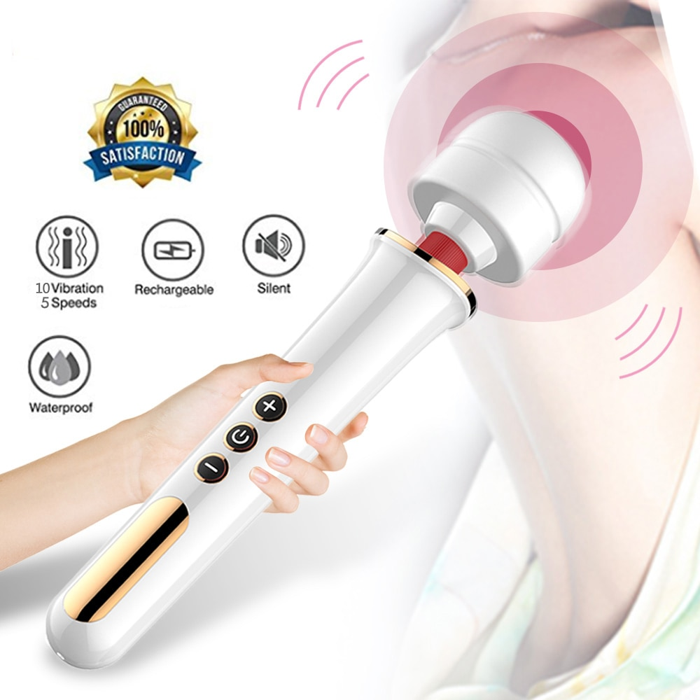 G Spot AV Zauberstab Vibrator Für Frauen Weibliche Vaginale Körper Massage Klitoris Stimulation 10 Speed Vibrator Erotische Erwachsene Sex spielzeug