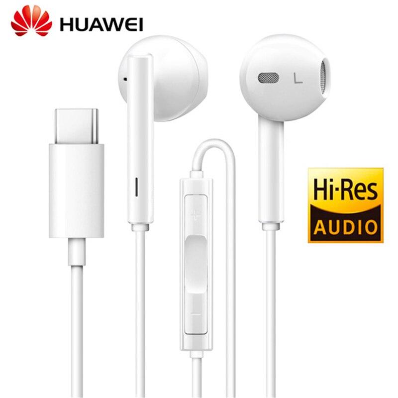Huawei Original Honor tipo C Hi-Res de AUDIO para auriculares con controlador para Huawei Mate 10 Pro P20 Pro auriculares deporte earphoneCM33 H30