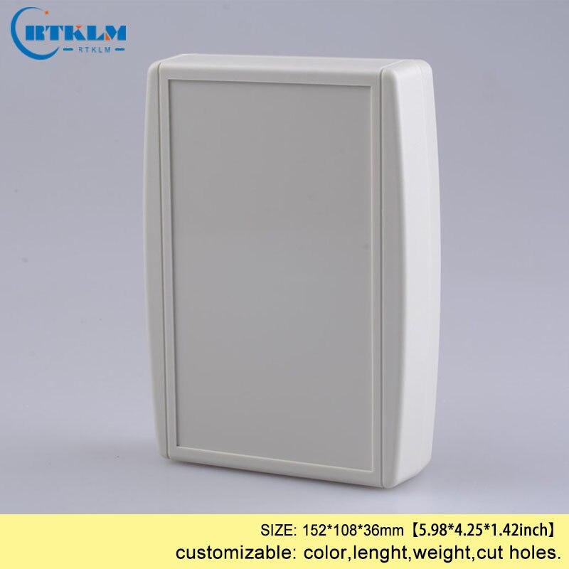 Projeto diy caixa eletrônica abs caixa de plástico habitação caso para desktop caixa de junção placa circuito gabinete plástico 152*108*36mm