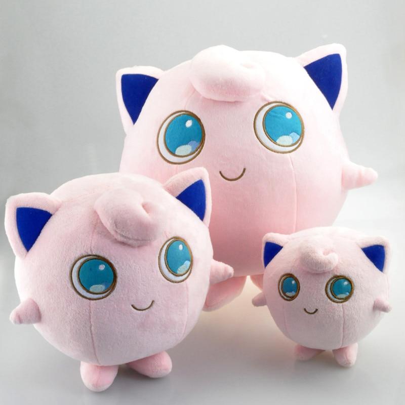 14 cm/24 cm/30 cm Kawaii dibujos animados Jigglypuff suave juguetes de peluche muñeca de peluche de Anime para niños