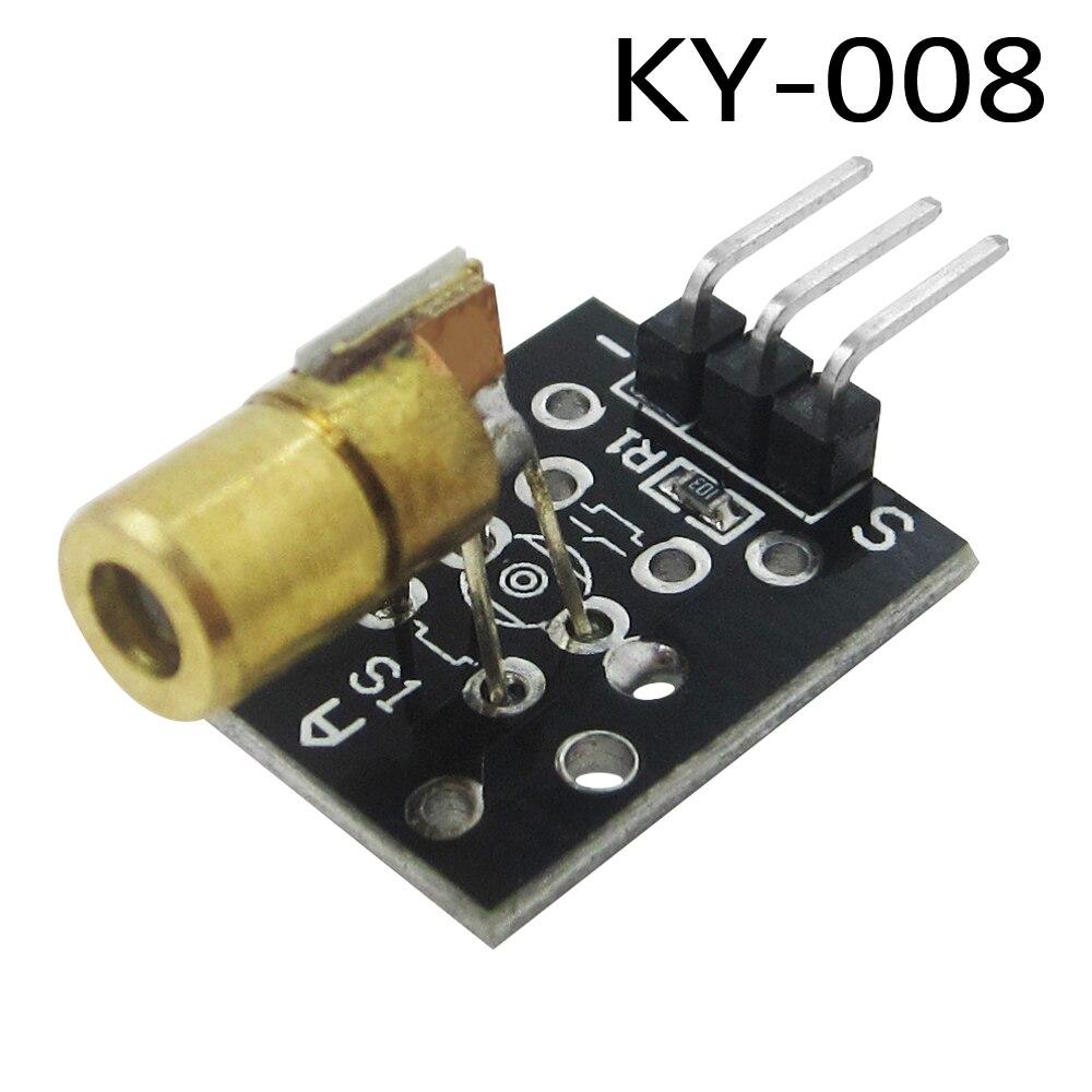 HAILANGNIAO 10pcs KY-008 650nm Laser sensor Module 6mm 5V 5mW Red Laser Dot Diode Copper Head