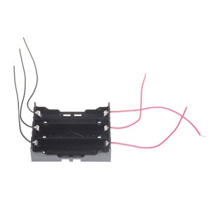 1PCS DIY 18650 Battery Box Plastic Batterries Holder Storage Case For 3 X 3.7V 18650 Battery Battery With Wire Lead Black