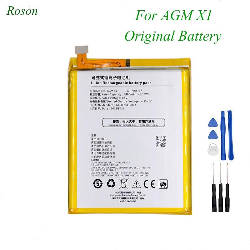 Rosen para AGM X1 de 5400mAh de la batería 100% repuesto nuevo accesorio de acumuladores para AGM X1 + herramientas