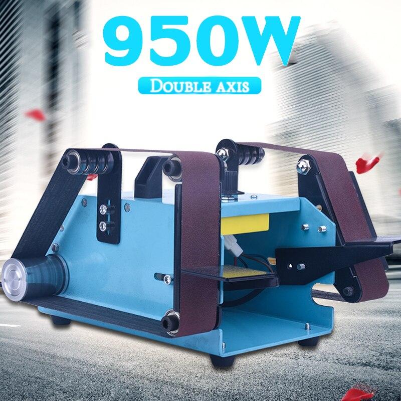 40x680mm כפול ציר חגורת סנדר 950 W ספסל חשמלי חגורת דיסק מטחנות עבור עץ פלסטיק מתכת ליטוש עם מלטש חגורת 220 V