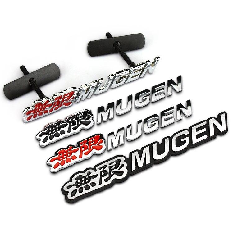 3D эмблема MUGEN Grill, хромированная Задняя эмблема на багажник, наклейки для Civic Accord CRV, 1 шт.