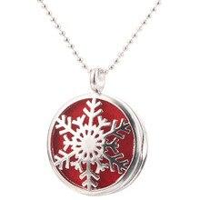 Beautiful Snowflake Aromatherapy Essential Oil Diffuser Necklace Fashion Perfume Locket Pendant Crea