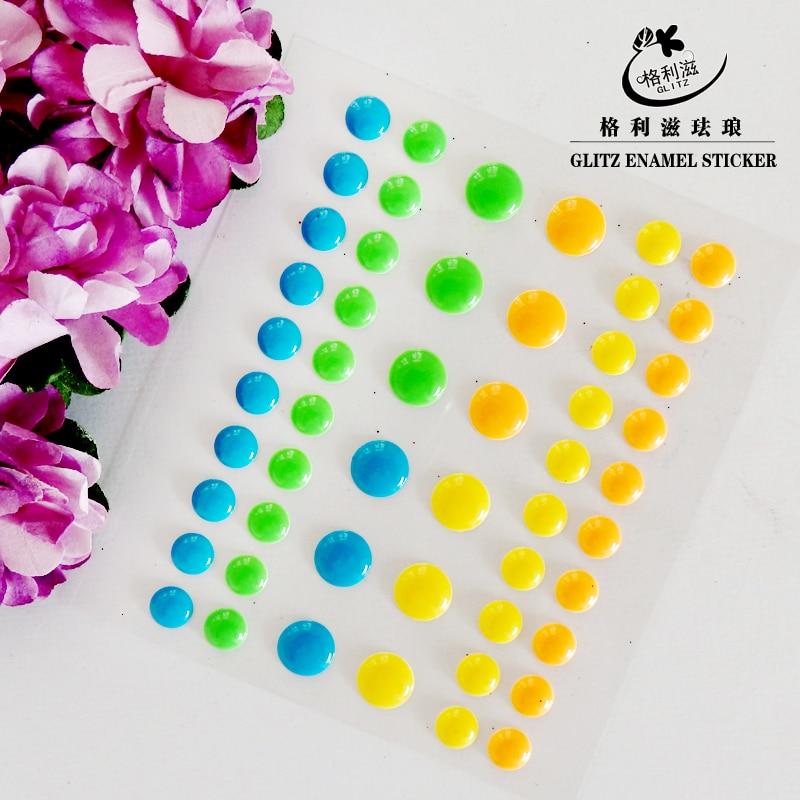 Sugar Sprinkles Self-adhesive Enamel Dots Resin Sticker for Scrapbooking/DIY Crafts /card Making Decoration