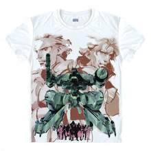 METAL GEAR Camisetas Multi-estilo Manga Curta Camisas Kojima Metal Gear Solid Snake Liquid Snake Raiden BIG BOSS Cosplay camisa