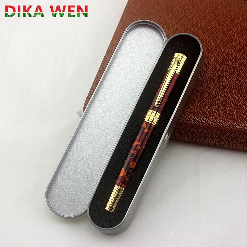 Высококачественные креативные ручки, модные роскошные ручки-роллеры для подарков, Металлическая Шариковая ручка, школьная шариковая ручка