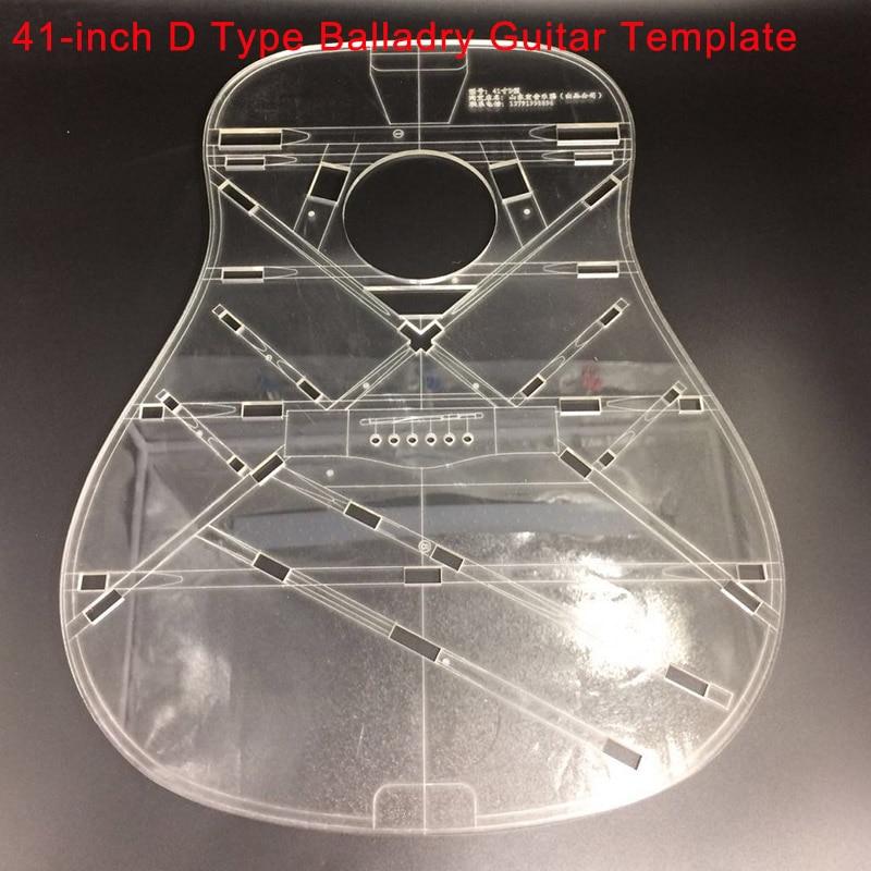 41-дюймовая d-образная балладрическая гитара, прозрачный акриловый шаблон, формы для изготовления гитары, внешний вид, звуковое отверстие, зв...