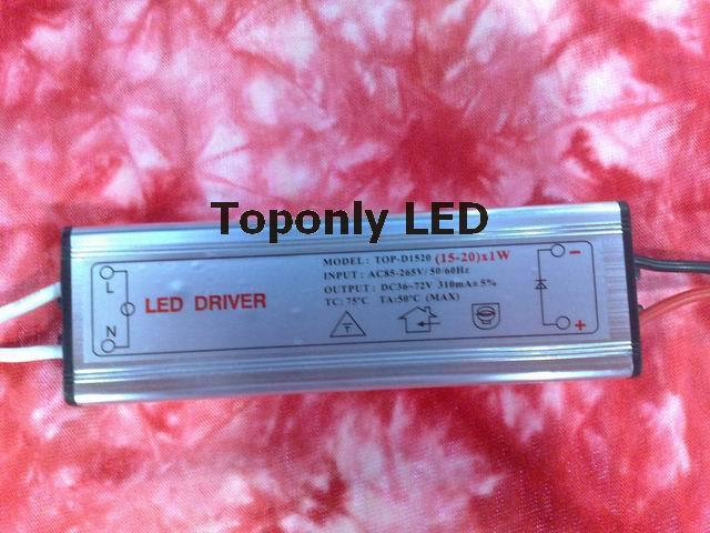 (15-20) x1w Светодиодный источник питания 310mA электронный трансформатор AC DC адаптер для мощного светодиодного светильника, 100 шт./лот, DHL Бесплатн...