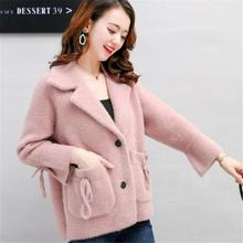Mulheres 2019 Outono Inverno Terno Gola Cardigan Camisola de Malha Casaco Feminino Coreano Estilo Tricot Casaco Jaqueta Grossa Quente Mujer K140