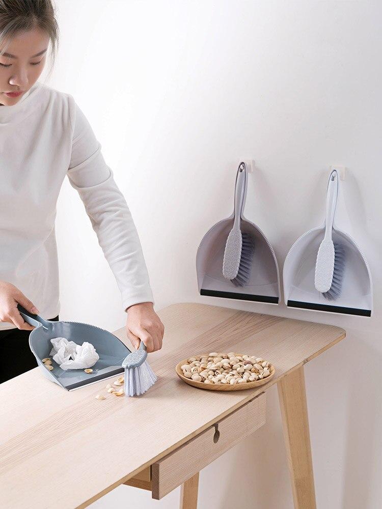 Mini pala, escoba, recogedor, conjunto de plástico, herramienta de Limpieza de escritorio para el hogar, pequeña pala de escoba