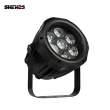 SHEHDS Wasserdichte LED Par 7x12W RGBW Licht Outdoor IP65 Wasserdicht 7x18W 6in1 DMX Wirkung bühne Lichter Professionelle Bühne DJ