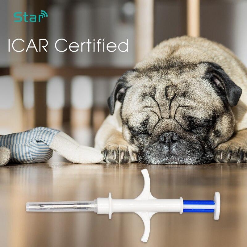 (100 pc) 2,12*12mm Microchip para mascotas RFID animal etiqueta inyector de jeringa implante FDX-B 134,2 khz jeringa para perro gato ratón tortuga arowana