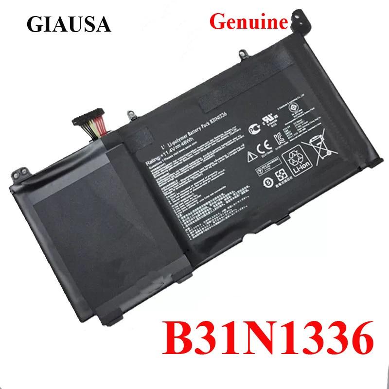 Подлинная батарея GIAUSA B31N1336 для ASUS VivoBook C31-S551 S551L S551LB S551LA R553L R553LN R553LF K551L K551LN V551L V551LA