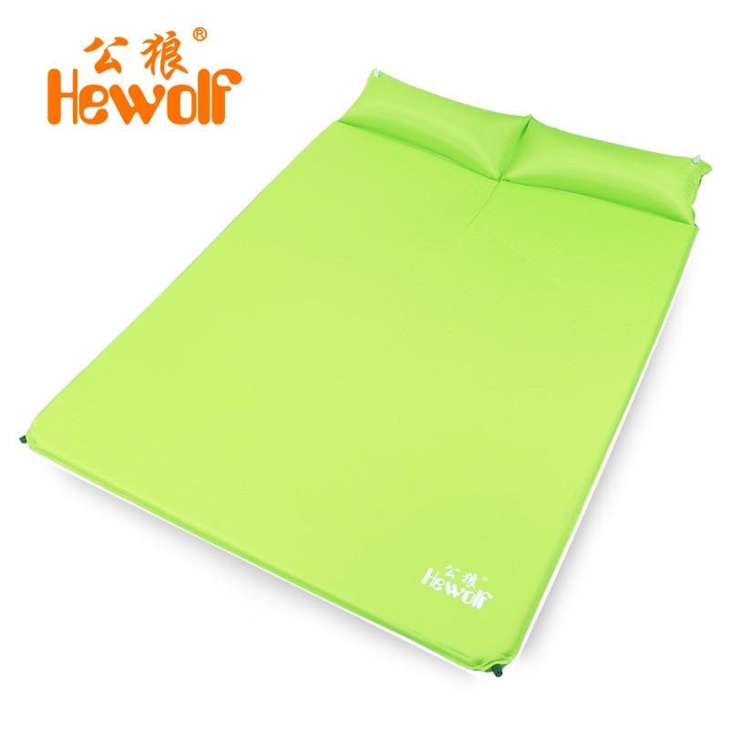 Автоматическая надувная подушка Hewolf для пар, уличный тент для кемпинга, ланч-матрас, подушка для расширения и плотный коврик